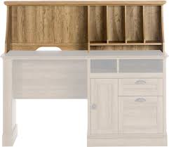 office desk with hutch storage. Teknik Office Hutch Option For Scribed Oak Storage Desk Complete With Stylish Scooped Stationery Dividers And Cable Access