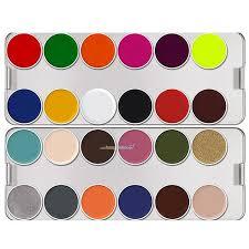 kryolan supracolor palette 24 colors