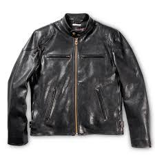 cafÉ racer black leather jacket