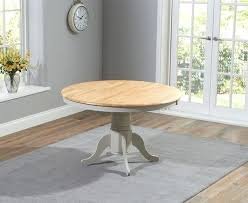 elstree solid hardwood and painted 120cm round dining table oak and grey round dining table 120cm white wooden dining table 120cm