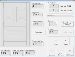 images of raised panel door calculator
