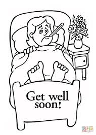 Revealing Get Well Soon Card Coloring Pages Gr 7324 Unknown