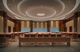 Round ceiling design modern conference room