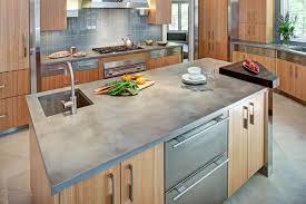 concrete kitchen countertop and island contemporary kitchen new york