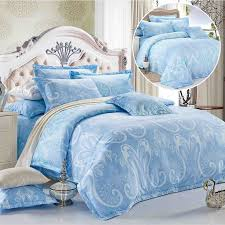 reversible luxury blue doona quilt duvet cover double queen king super king size