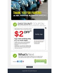 Burbank Website Design Email Marketing Design For Airport Parking Website 16 Web