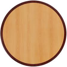 30 round two tone resin cherry and mahogany table top