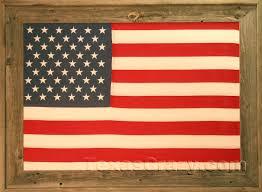 usa american flag framed