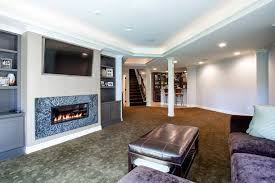 basement tv built in basement traditional with purple sofa over fireplace home bar lighting t85 lighting