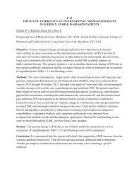 F 13 Impact Of Antibiotics On International Normalized
