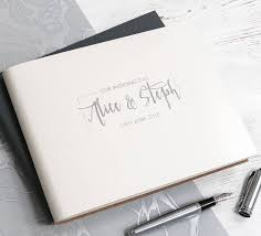 contemporary leather guest book