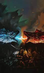 game of thrones tv series dragons fight fan art 1280x2120 wallpaper