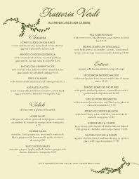 Fancy Restaurant Menu Branch Trattoria Italian Menu Design Templates By