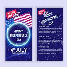 4th Of July Usa Independence Day Sale Flyer Design Template For
