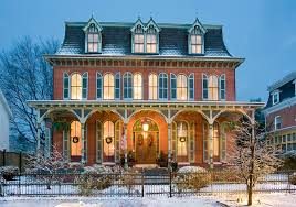 1877 French inspired Second Empire Victorian Mansion renovated