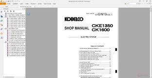kobelco crawler crane cke1350 shop manual auto repair manual