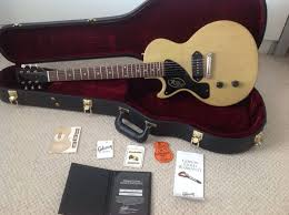 tv yellow sg. gibson custom shop 57 les paul junior left handed lefty in tv yellow very rare will tv sg