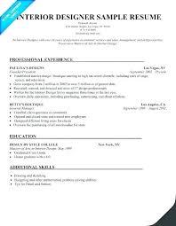 Interior Design Resume Format Icwguide Info