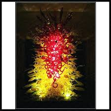 hand blown glass flower wall art decoration for
