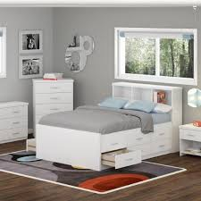 Ikea White Bedroom Furniture Sonax Double Captainu0027s Storage Bed Set With Bookcase HeadboardNightstandWide Dresser Frost White Ikea Bedroom Furniture D