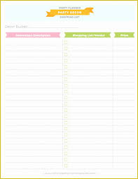 Free Birthday Party Planning Templates Of Party Planning