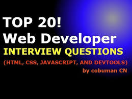 Top 20 Interview Questions Top 20 Web Developer Interview Questions And Answers Html
