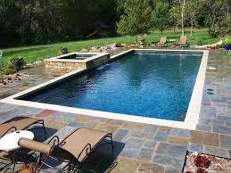 rectangular pool with hot tub | Gallery For Rectangle Inground Pools With  Hot Tubs