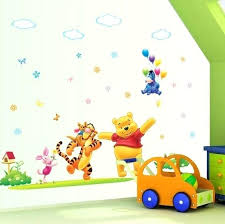 wall decals for baby rooms cartoon wall decal baby room wall decor happy the pooh nursery