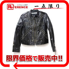 nattahnam natanam womens faux leather studded jacket black 36 used kk s