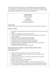 Brilliant Ideas Of 7 Sample Sap Resume For Fitness Center Manager