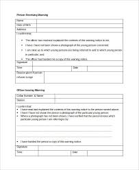 Employee Warning Notices Free 10 Warning Notice Examples Samples In Pdf Google