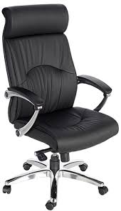 Z  Madison Executive High Back EcoLeather Chair With Chrome  Larger  Photo Email A Friend