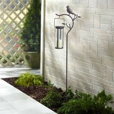 provence bird stake solar led candle