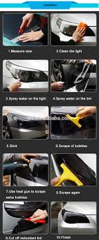Car Light Decoration Easy Removable Car Headlight Decoration Light Black Headlight Film