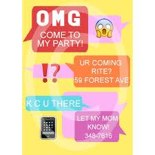 Text Invitations Text Message Birthday Invite For 7 00 Invitations