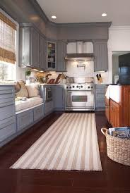 design ideas line pattern cream kitchen rug runner mat striped grey cabinet with window seating natural
