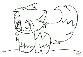 Small Picture Kawaii Chibi Kitten Coloring Page Free Printable Coloring Pages
