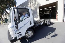 wrightsd ceo ian wright drives an electric powered truck at the pany s headquarters in san