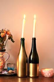 Wine Bottle Candle Holder Holders Interior Design Uk