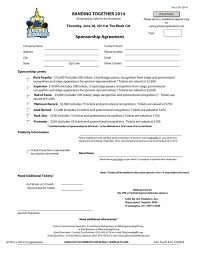 sponsorship agreement sponsorship agreement template sponsorship agreement template
