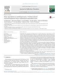 Dose Equivalents Of Antidepressants Evidence Based