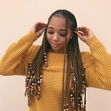 Layered Braids Hairstyles The Braids And Beads Trend Is Taking Over Instagram Instagram