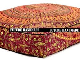 floor cushions. Home Decoration Handmade Mandala Bohemian Square Floor Pouf Camel Peacock Cushions Cover Sofa Cushion Decorative