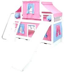 bunk bed with slide and tent. Loft Beds Tent Bunks With And Top Tents Bed Slide Princess Castle Bunk 8