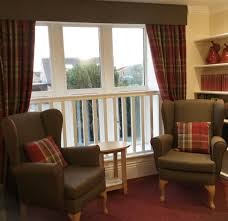 Wing Chairs For Living Room Tartan Curtains And Panaz Highland Pelmet And Wing Chairs In A