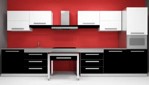 black and red kitchen design. black and white backgrounds grey kitchen design red e