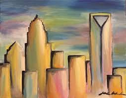 skyline painting pastel painting charlotte nc things to do
