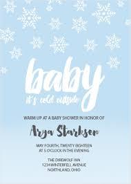Snowflake Baby Shower Invitations Snowflake Baby Shower Invitations Match Your Color Style Free