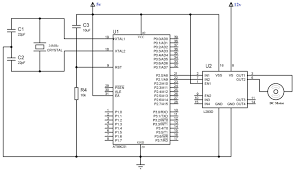 interfacing dc motor 8051 using l293d at89c51 keil c circuit diagram interfacing dc motor 8051 using l293d