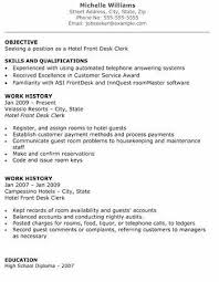 Resume Samples For Receptionist Jobs Magnificent Hotel Front Desk Resume Inspirational Hotel Front Desk Resume Sample